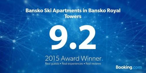 Booking.com Award to Bansko Ski Apartments in Bansko Royal Towers