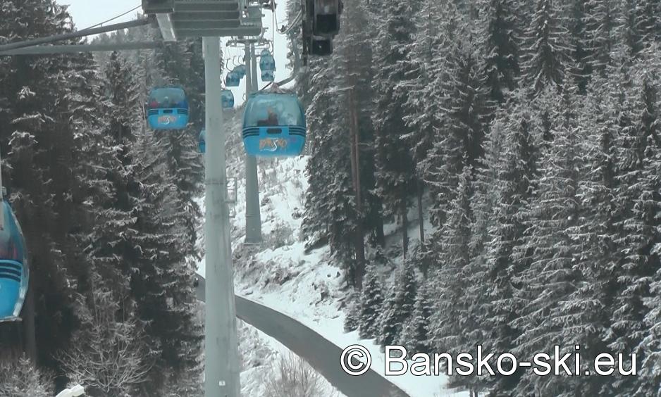 Gondola lift in Bansko